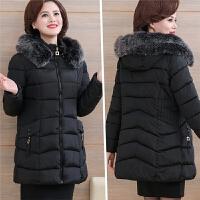 妈妈装冬装棉衣40岁50中老年女装新款加厚羽绒中长款棉袄外套