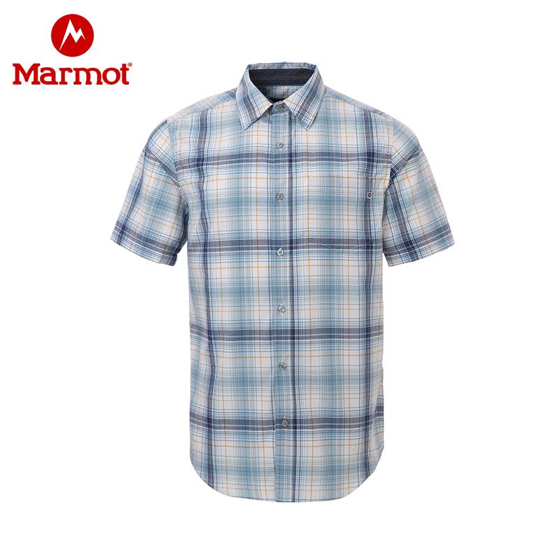 Marmot/土拨鼠春夏户外男士透气速干排汗短袖衬衫 VIP专享96折