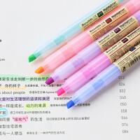 白雪文具柔和淡彩荧光笔彩色直液式记号笔标记重点多色可选学生用