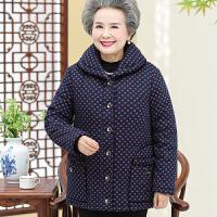 妈妈冬装外套棉衣加厚大码中老年女装宽松棉袄冬季老人奶奶纯