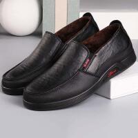 老北京布鞋冬季男款二棉鞋软底舒适老人棉鞋中老年爸爸加绒休闲鞋