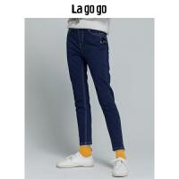 Lagogo/拉谷谷2019新款牛仔裤女HCNN53YY65