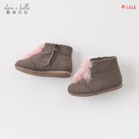 davebella戴维贝拉春秋女童休闲鞋子宝宝中筒靴子DB9063