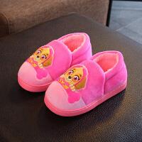 女童棉鞋儿童新款冬季加绒加厚潮流二棉鞋秋中大童棉拖