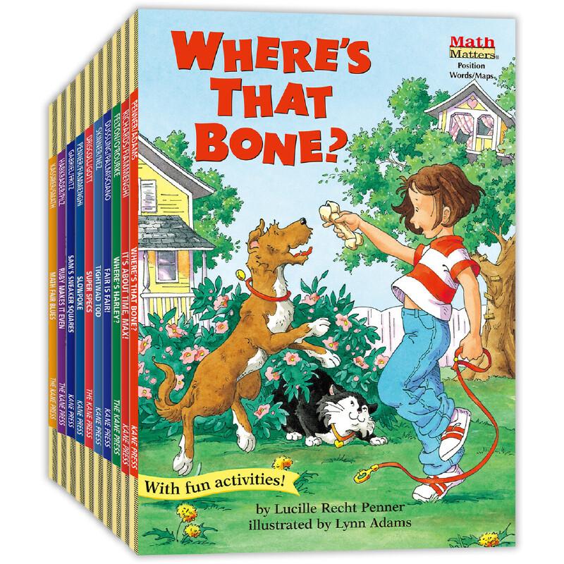 数学帮帮忙英文原版精选(10册) 全美教师喜欢用的数学绘本,获美国《学习杂志》教师选择儿童读物奖,把数学与孩子日常生活联系在一起,帮孩子轻松掌握基础数学概念,积累生活及数学相关英语词汇,是小学数学课的高质量辅助读物。——爱心树童书出品