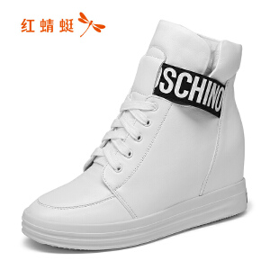 红蜻蜓女鞋秋冬休闲鞋鞋子女女靴子HNB6736