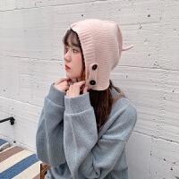 甜美可爱软妹学生针织毛线帽子女韩版百搭秋冬包头护耳保暖渔夫帽