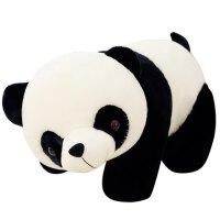 熊猫公仔毛绒玩具玩偶黑白猫*抱抱熊布娃娃抱枕送女生礼物萌 黑色熊猫 100cm送