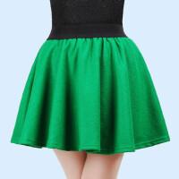 广场舞裙拉丁舞裙毛呢短裙半身裙格子短裙广场舞