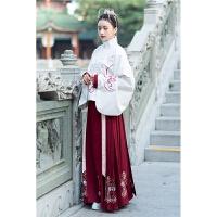 汉服冬装女中国风改良古装汉元素袄裙学生日常马面裙