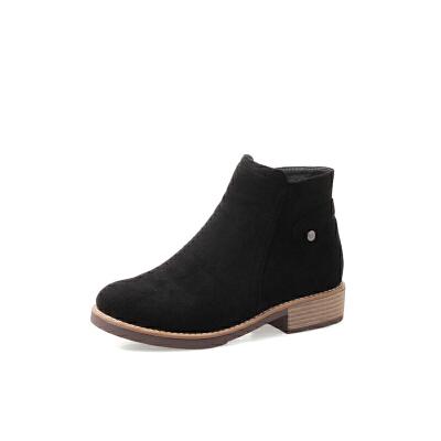 马丁靴大码女靴潮41-43短靴冬裸靴女秋冬平跟加绒小码32 女鞋子