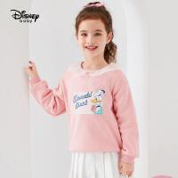 【3折�A估�r:51.4元】迪士尼女童秋冬�l衣加�q新款洋�馔��b卡通米妮黛西�和�����上衣