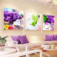 5D十字绣钻石绣魔方圆钻满钻植物花卉三联画客厅卧室餐厅贴钻石画