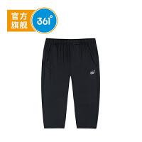 【5.14-5.16抢购价:39】361度童装 男童针织七分裤2021年夏季新品运动休闲裤K51923531
