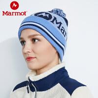 marmot/土拨鼠秋冬新款女款毛线帽子防寒保暖情侣针织帽19320