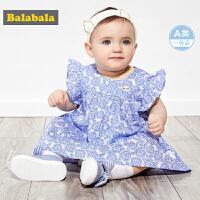 【6.8超品 3件3折价:38.97】巴拉巴拉女宝宝公主裙婴儿裙子儿童连衣裙时尚洋气甜美印花背心裙