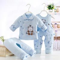 背带裤小孩初生冬装三个月宝宝衣服女冬季保暖棉袄新生儿女童小童