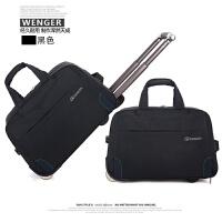手提拉杆包女轻便旅行袋大容量防水牛津布带轮可登机可折叠旅行包