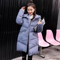 孕妇冬装韩版宽松女中长款羽绒服怀孕期冬季加厚外套