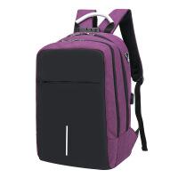 新款带锁包旅行背包防泼水尼龙USB充电双肩电脑包背包书包双肩包电脑包 16寸