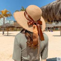 ins网红同款时尚新品气质海边度假拉菲草帽子出游防晒遮阳帽子女大檐韩版百搭