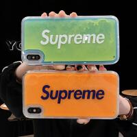 夜光流沙iPhone7plus手机壳xs女款8plus个性创意苹果x情侣xr网红6s男8x潮牌6sp软边硬xr防摔xs