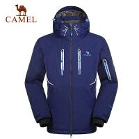 camel骆驼户外男款滑雪服户外运动滑雪保暖带帽男士