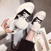 2018冬季新款时尚加绒保暖百搭休闲学生棉鞋原宿运动休闲女鞋潮
