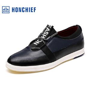 红蜻蜓旗下品牌 HONCHIEF 男鞋休闲皮鞋秋冬休闲鞋子男单鞋KZA1032