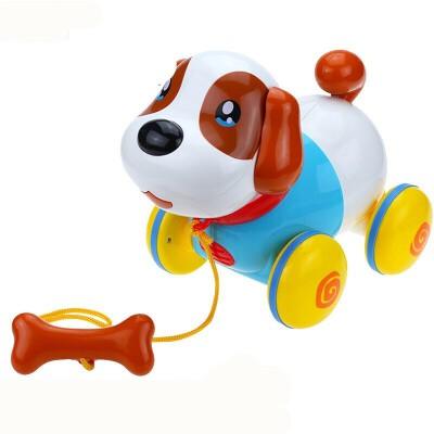 智能机器狗拉线电动小狗狗走路会唱歌仿真益智牵绳宠物小狗儿童玩具 音乐拉绳狗 限量送电池+螺丝刀 卡通音乐拉线狗,带音乐,走路一扭一扭的哦,萌萌哒。孩子不爱学习?智伴儿童机器人把