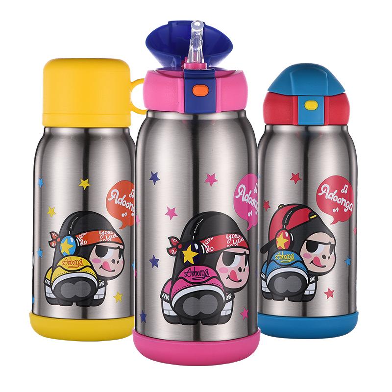 儿童保温杯带吸管316不锈钢水壶两用宝宝男女幼儿园耐摔水杯