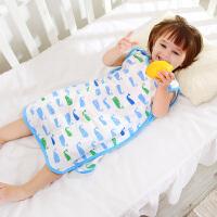 龙之涵 婴儿睡袋春夏季宝宝纱布背心睡袋