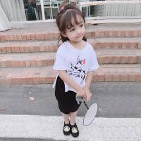 女宝宝古装套装复古汉服女童夏装中国风儿童唐装两件套