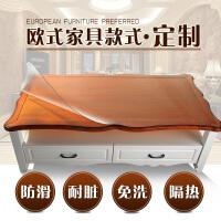 欧式茶几垫透明不收缩软玻璃磨砂 餐桌布防水免洗水晶板定做PVC胶