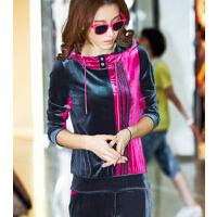 新款 金丝天鹅绒运动套装女运动服 女款运动装休闲套装
