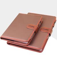 加厚100页商务记事本A5B5复古创意笔记本带扣皮面日记本