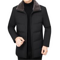 男士羽绒服秋冬季中年短款外套轻薄款新款青年鸭绒服防寒上衣