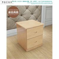 松木床头柜收纳柜实木地柜多功能储物柜 单双抽实木床头柜 组装