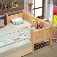 实木儿童床延展床带护栏男孩女孩床松木宝宝小孩床婴儿床拼接床加宽定做带延边 其他