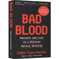英文原版 Bad Blood 滴血成金 坏血 硅谷独角兽的骗局 伊丽莎白福尔摩斯 John Carreyrou 女乔布