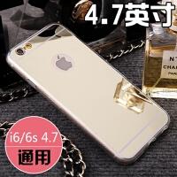 iphone8手机壳Xr苹果7/6plus手机套8x镜面6s保护4.7硅胶套X/XsMax 6/6S 土豪金【镜