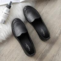 妈妈鞋软底舒适单鞋春季款中老年人女鞋奶奶滑平底中年老人皮鞋