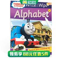 顺丰发货 英文原版进口 【可擦写】托马斯和朋友们系列Thomas Wipe & Write Alphabet 字母书