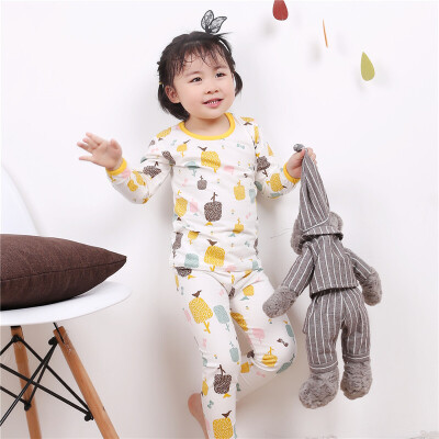 儿童棉内衣套装男女童中小童秋衣秋裤空调服家居服