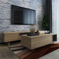 北欧电视柜实木脚 北欧实木电视柜茶几组合现代简约多功能客厅经济型小户型定制家具 组装