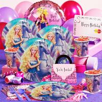 孩派 宝宝派对装扮道具 儿童生日装饰布置用品 芭比娃娃主题