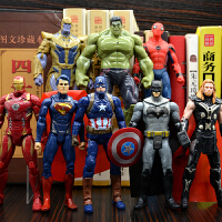 可动漫威全套模型绿巨人灭霸钢铁侠公仔复仇者联盟3英雄雷神