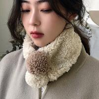 围巾女冬季仿羊毛围脖学生春秋脖套柔软装饰加绒套头护颈韩版百搭