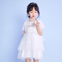 【春新品2件2.4折�r:74.1元】迪士尼����快�沸乔蚺�童��s梭�短袖公主裙夏季新品