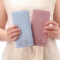 茉蒂菲莉 女士钱包 中长款韩版简约大容量磨砂纯色钱夹款式学生零钱包